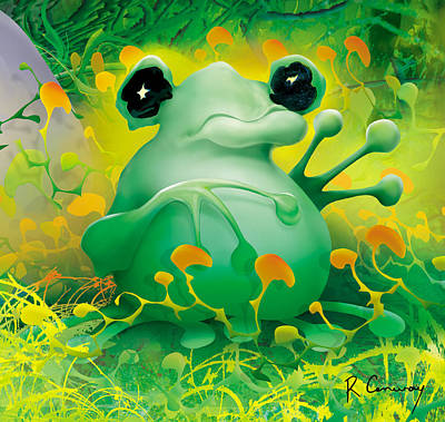 Friendly Frog Art Print by Robert Conway