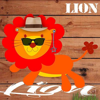 Friendly Lion Collection Art Print