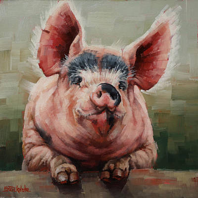 Friendly Pig Art Print
