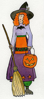 Friendly Witch Art Print