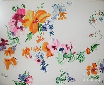Friends Are Like Flowers Art Print by PainterArtist FIN