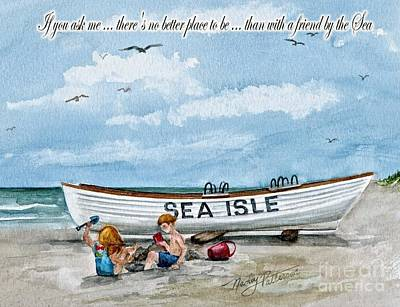 Friends By The Sea  Art Print