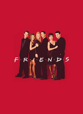 Ross Digital Art - Friends - Cast In Black by Brand A