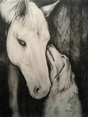 Drawing - Friends by Catherine Howley