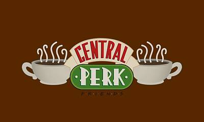 Ross Digital Art - Friends - Central Perk Logo by Brand A