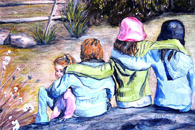 Newton Painting - Friends Connected by Ruth Bodycott