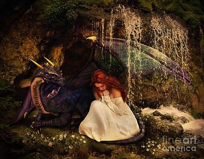 Little Red River Digital Art - Friends by Donika Nikova