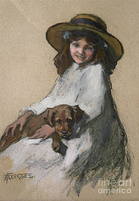 Paws Painting - Friends by Elizabeth Adela Stanhope Forbes