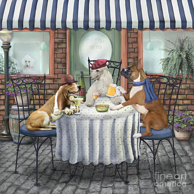 Boxer Painting - Friends II by Jan Sacca