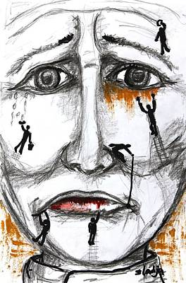 Friends In Need  Art Print by Sladjana Lazarevic