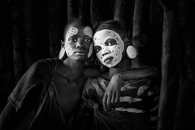 Tribal Photograph - Friends by Jose Beut