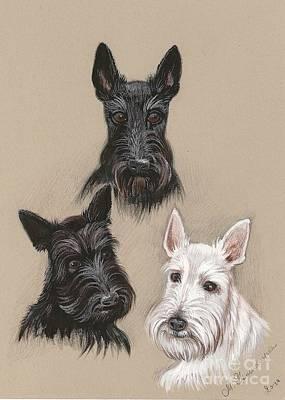 Friends Art Print by Margaryta Yermolayeva