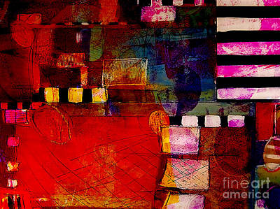 Colorful Mixed Media - Friends by Marvin Blaine
