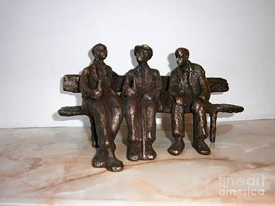 Nikola Litchkov Sculpture - Friends by Nikola Litchkov