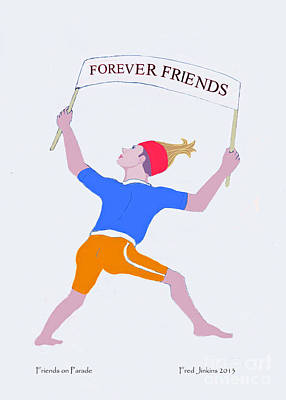 Friends Forever Digital Art - Friends On Parade by Fred Jinkins