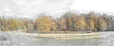 Photograph - Friend's Pond -first Snow by Sandra Clark
