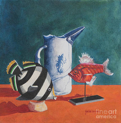 Painting - Three Friends by Sandra Neumann Wilderman