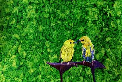 Painting - Friends.. by Sonali Sengupta