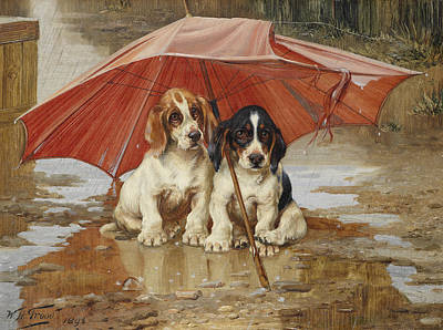 William Henry Hamilton Trood Painting - Friends by William Henry Hamilton Trood