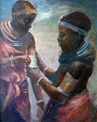Pierced Ears Painting - Friendship by Benjamin Johnson