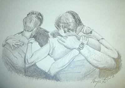 Mother Land Drawing - Friendship by Esther Newman-Cohen