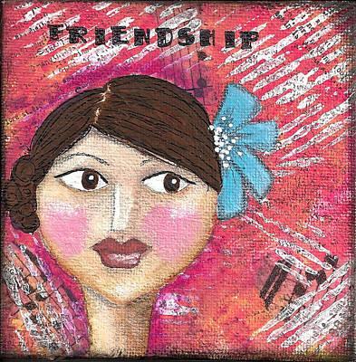 Friendship Girl Original by Glimmerbug Art