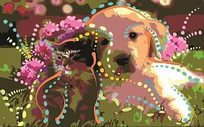 Friends Forever Digital Art - Friendship by Micaela Pazuello Mica