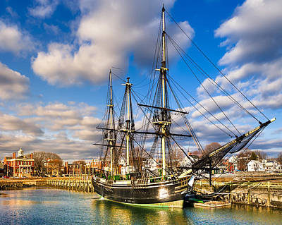 Sailboat Photograph - Friendship Of Salem At Harbor by Mark E Tisdale