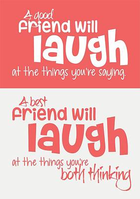 Friendship Typography Print Poster Art Print by Lab No 4 - The Quotography Department