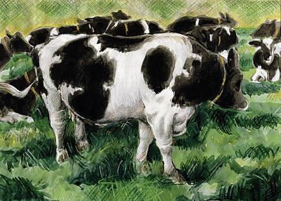 Farmyard Animals Painting - Friesian Cows by Gareth Lloyd Ball
