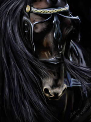 Painting - Friesian Spirit by Michelle Wrighton