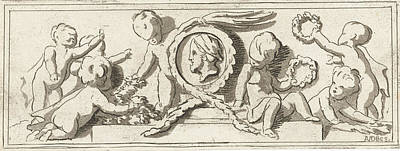 Frieze With Putti, Anthonie Van Den Bos, Jacob De Wit Art Print by Artokoloro