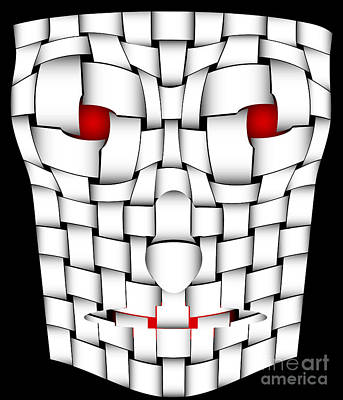 Frightening Mask Art Print