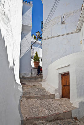 Frigiliana Street Scene, Costa Del Sol Art Print by Panoramic Images