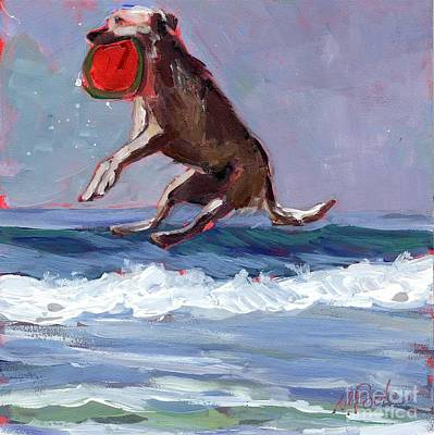 Frisbee Art Print by Molly Poole