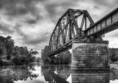 Frisco Bridge In Monochrome Art Print by James Barber