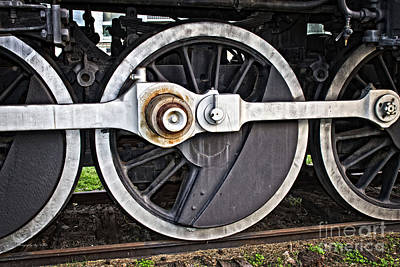 Photograph - Frisco Locamotive Wheels by Ms Judi