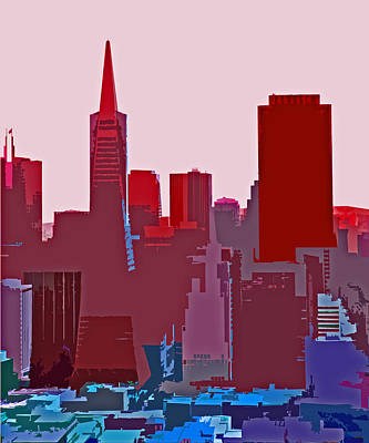 Frisco Skyline Art Print