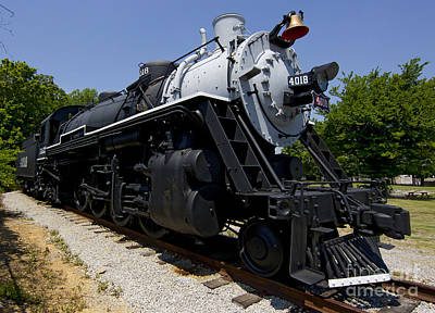 Locamotive Photograph - Frisco Steam Locamotive #4018 by J L Woody Wooden