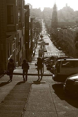 Photograph - Frisco Steps - San Francisco by Aidan Moran