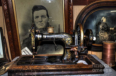 Frister And Rossmann - Old Sewing Machine Art Print by Kaye Menner