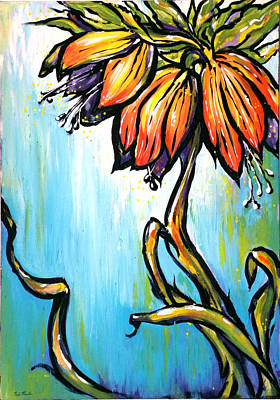 Painting - Fritillaria Imperialis by Nada Meeks
