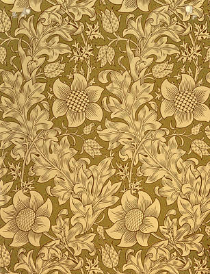 Morris Wall Art - Tapestry - Textile - Fritillary Wallpaper Design by William Morris