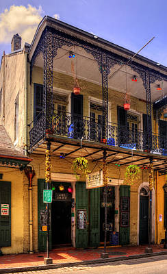 Yellow Photograph - Fritzel's European Jazz Pub New Orleans by Chrystal Mimbs
