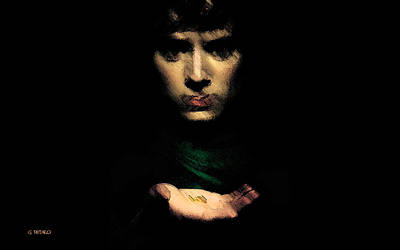 Painting - Frodo And The Ring by George Pedro