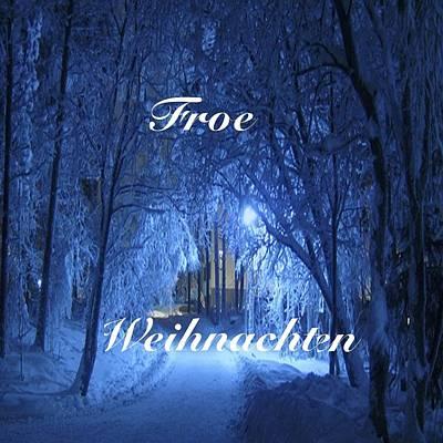 Digital Art - Froe Weihnachten German by Florene Welebny