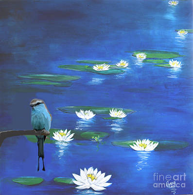Painting - Frog And The Bluebird by Gary Smith
