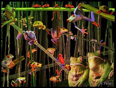 Frog Bog Art Print