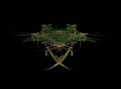 Fractal Painting - Frog Face by Bruce Nutting