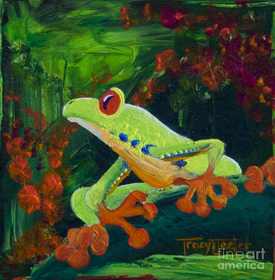 Frog Heaven Art Print by Tracy L Teeter